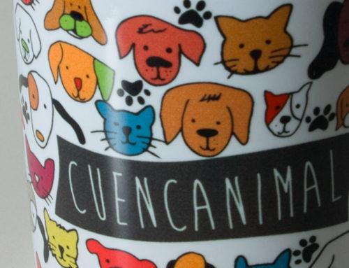 Ilustraciones para tazas de Protectora Cuencanimal